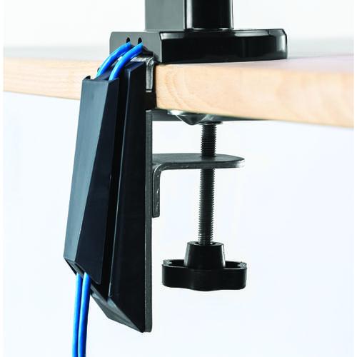 Fellowes Dual Monitor Arm Adjustable 360-degree Rotation Black Ref 8042501  137938