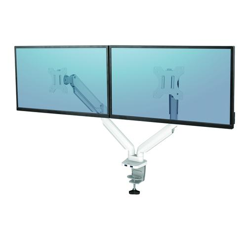 Fellowes Platinum Series Dual Monitor Arm White