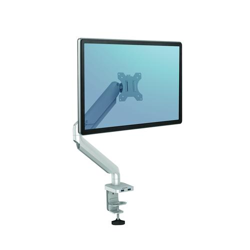 Fellowes Platinum Series Single Monitor Arm Silver 8056401 - BB76421