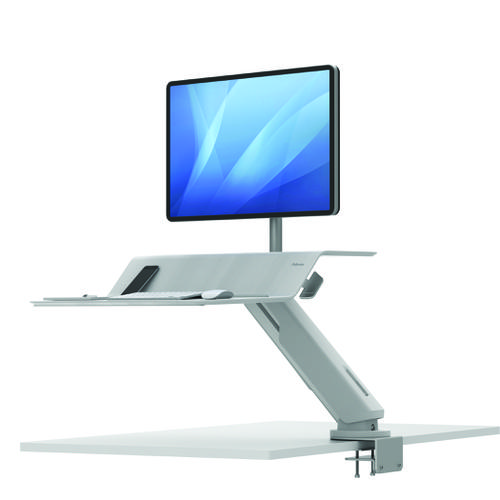 Fellowes Lotus RT Sit-Stand Workstation Single White