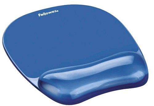 Fellowes Crystal Mousepad Wrist Support Blue
