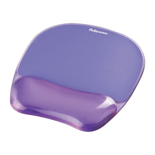Fellowes Crystal Mouse Pad & Wrist Rest Purple