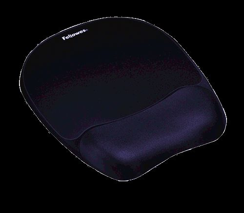 Fellowes Memory Foam Mouse Mat/Wrist Rest Dark Blue 9172801