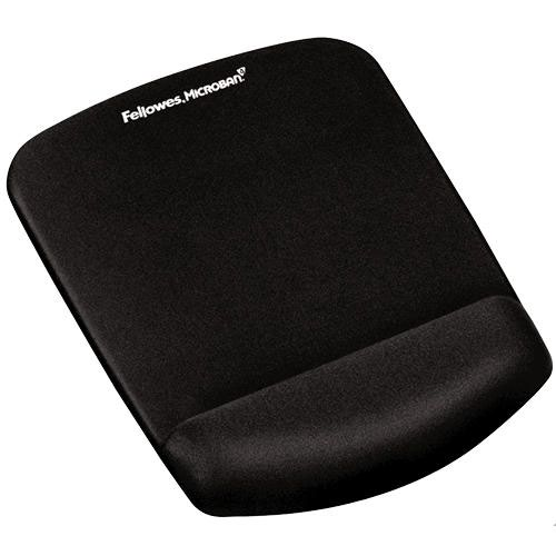 Fellowes PlushTouch Mousepad Wrist Support Black