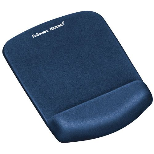 Fellowes PlushTouch Mousepad Wrist Support Blue