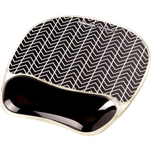 Fellowes Chevron Microban Gel Mousepad Wrist Support