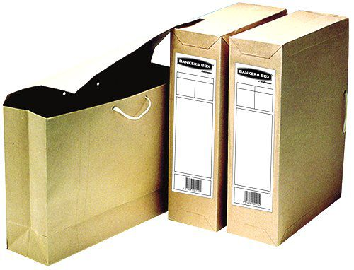 Bankers Box by Fellowes Basics Storage Bag File Foolscap W101xD254xH356mm Ref 00110 [Pack 25]