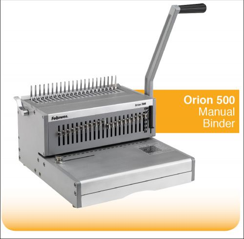 Fellowes Orion 500 Comb Binder Manual Capacity 500 Sheets Ref 5642601
