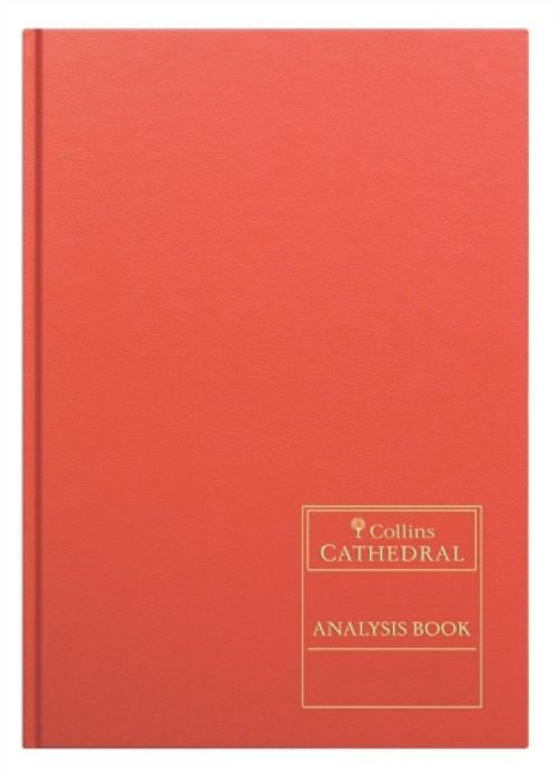 Collins Cathedral Petty Cash Book Casebound A4 3 Debit 9 Credit 96 Pages Red 69/3/91
