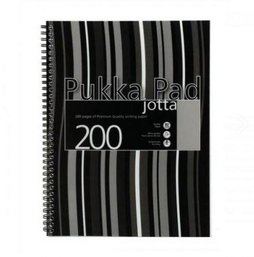 Pukka Pad A4 Polyprop Jotta 200 Page Black Stripe PK3