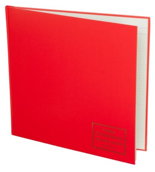 Collins Cathedral Analysis Book Casebound 297x315mm 27 Cash Column 96 Pages Red 150/271