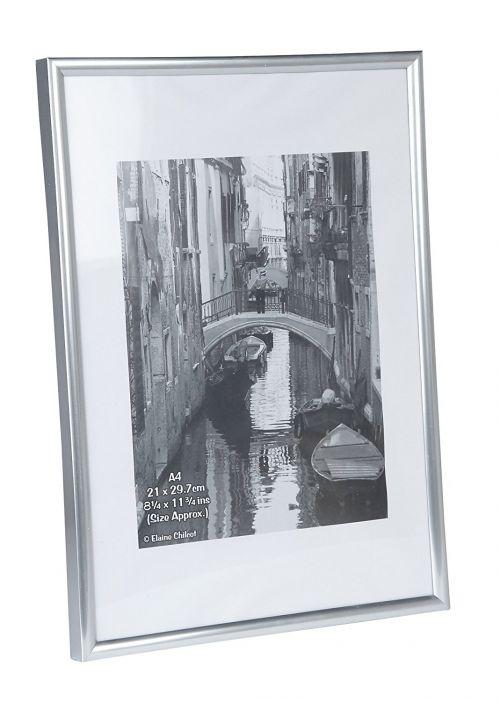 Photo Album Co Certificate/Photo Frame A4 Plastic Frame Plastic Front Silver