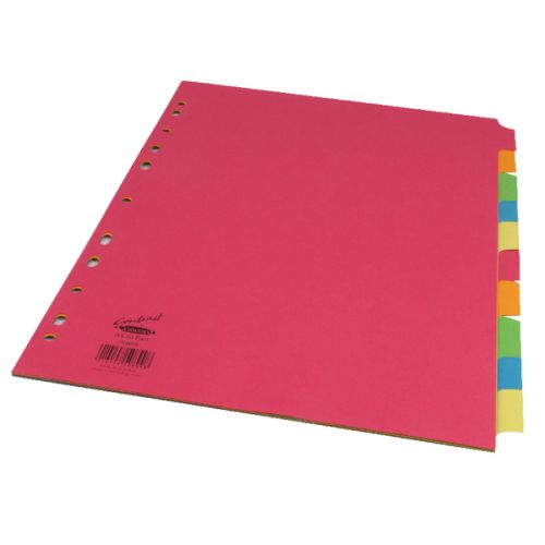 Concord Divider 10 Part A4 160gsm Board Bright Assorted Colours 50899