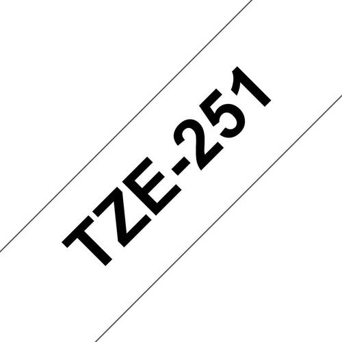 Brother P-Touch 24mm Black on White TZE251 Labelling Tape TZE251