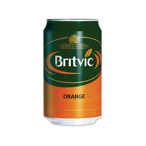 Britvic Orange Juice Pure Can 330ml A02100 [Pack 24]