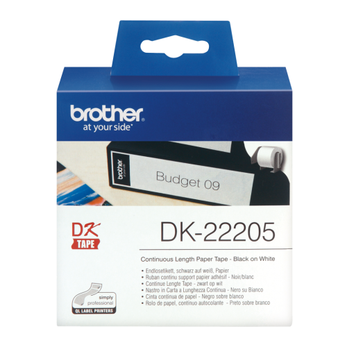 Brother DK22205 Continuous Paper Roll 62mmx30m
