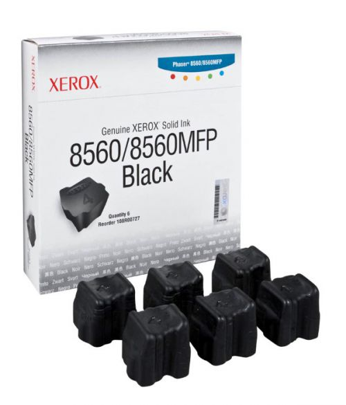 Xerox 108R00727 (Yield: 6,800 Pages) Black Solid Ink Sticks Pack of 6