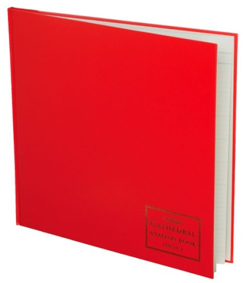 Collins Cathedral Analysis Book Casebound 297x315mm 21 Cash Column 96 Pages Red 150/211