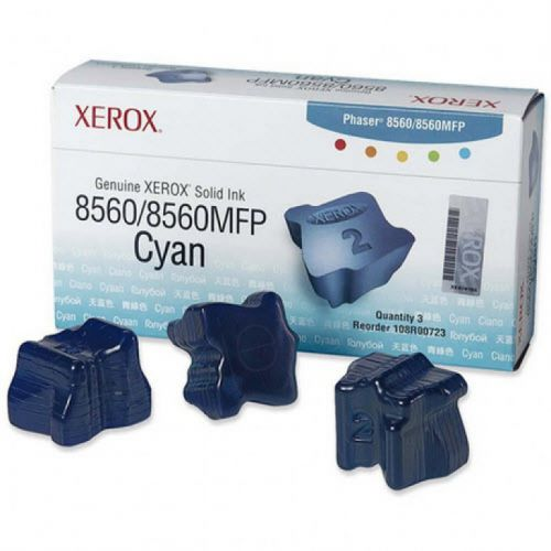 Xerox 108R00723 (Yield: 3,400 Pages) Cyan Solid Ink Sticks Pack of 3