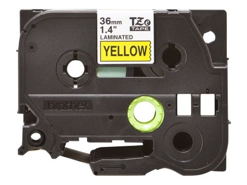 Brother P-Touch TZ Labelling Tape 36mm Black on Yellow TZE661