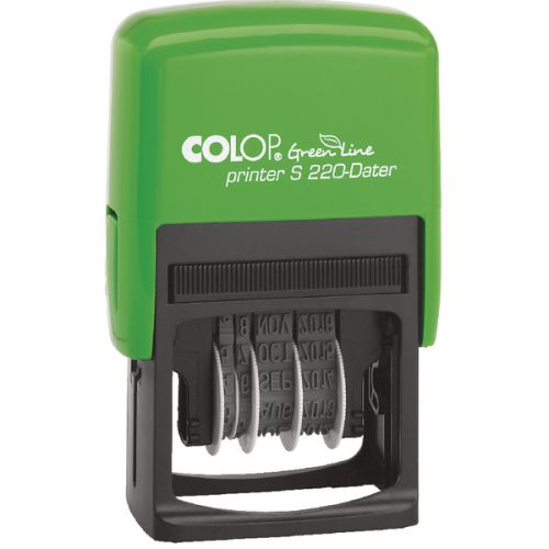 Colop Green Line S220 Self Inking Date Stamp Black Ink
