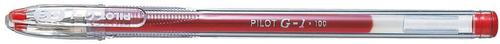 Pilot G-105 Gel Rollerball Pen 0.5mm Tip 0.32mm Line Red (Pack 12)
