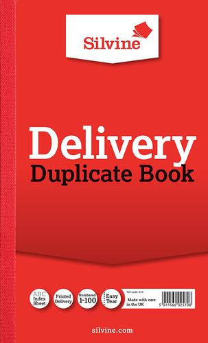 Silvine Duplicate Delivery Book 210x127mm (Pack 6)