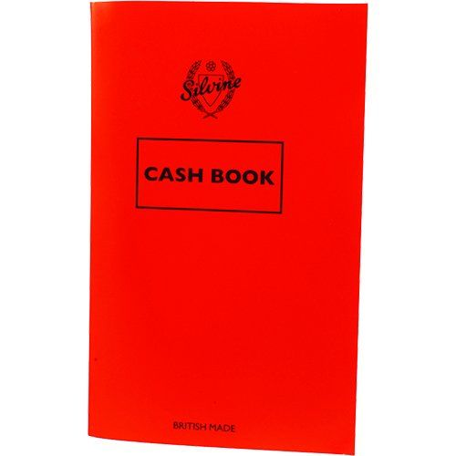 Silvine Cash Book 159x99mm 72 Pages Red (Pack 24)