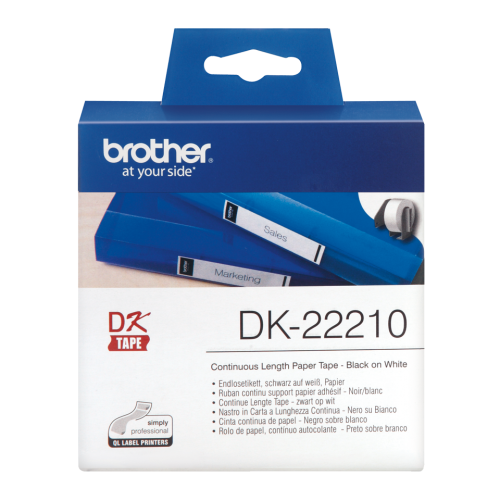 Brother DK22210 Continuous Paper Roll 29mmx30m
