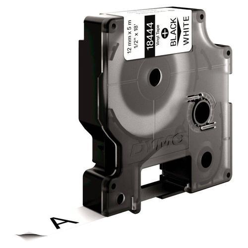 Dymo 18444 Rhino Label Printer Tape 12mmx5.5m Black on White S0718600 Label Tapes ES18905