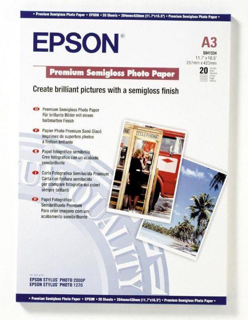 Epson C13S041334 Semi Gloss Photo A3 20 Sheets