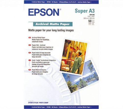 Epson C13S041440 Archival Matte Paper A3Plus 50 Sheets