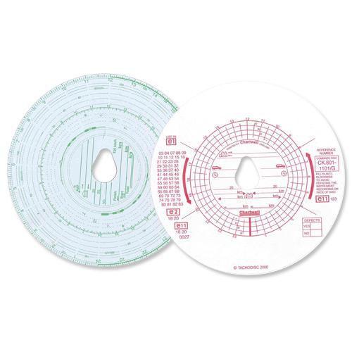 Chartwell Tachograph Discs Kienzle Dual (Pack 100) CK801/1101GZ