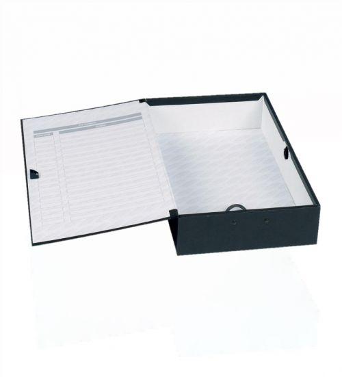 Concord Classic Box File Foolscap Black PK5