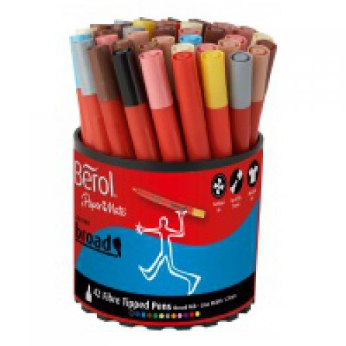 Berol Colourbroad Marker Assorted Pack of 42 3P