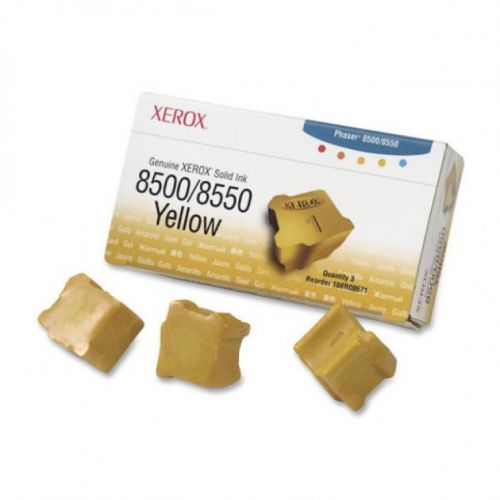 Xerox ColorStix Yellow (Yield 3,000 Pages) Solid Ink Sticks Pack of 3