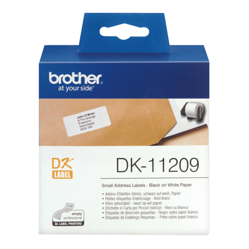 Brother DK11209 Small Address Label Roll 62mmx29mm 800