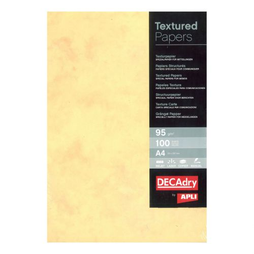 DECadry A4 95gsm Letterhead Everyday Presentation Paper Champagne Pack 100