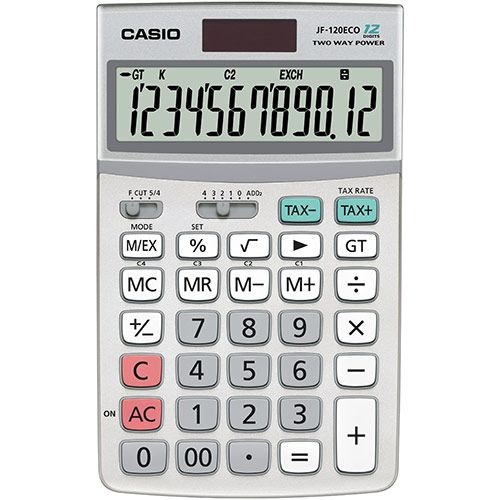 Casio JF-120ECO 12-Digit Desktop Calculator