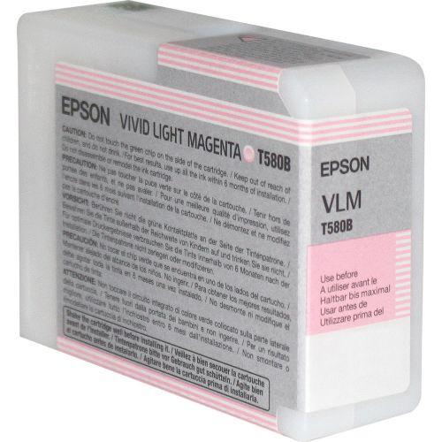 Epson C13T580B00 T580B Light Magenta Ink 80ml