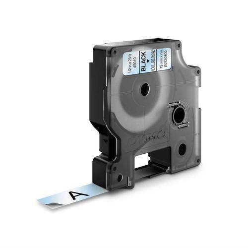 Dymo 45010 D1 LabelMaker Tape 12mm x 7m Black on Clear S0720500 - ES45010