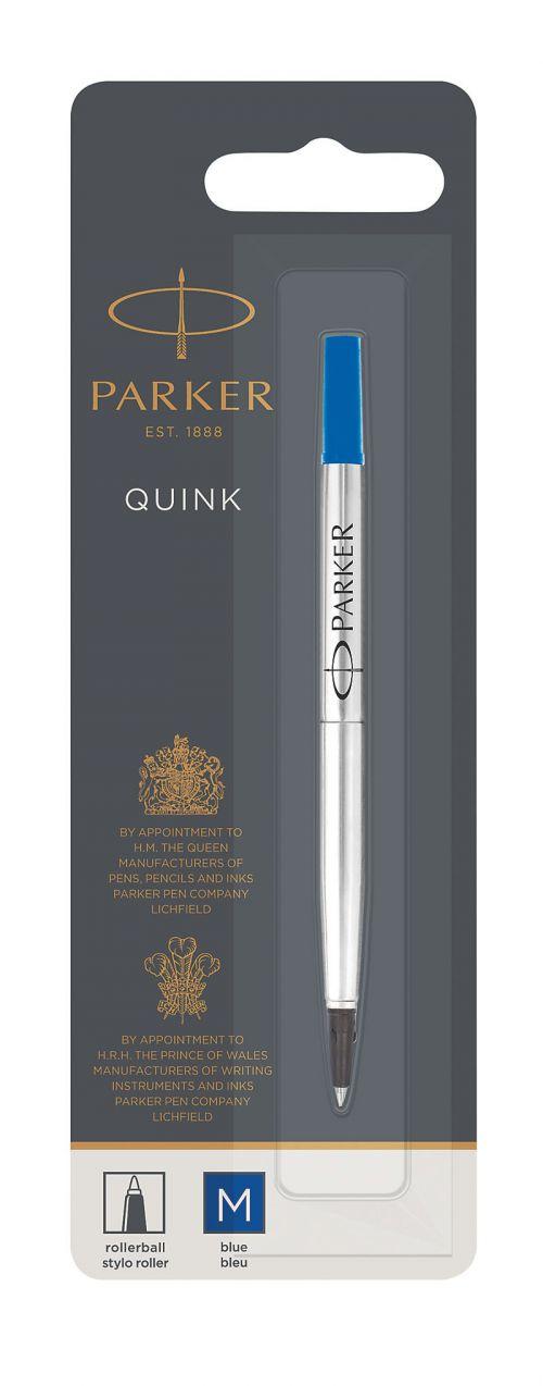 Parker Quink Rollerball Refill for Rollerball Pens Medium Blue