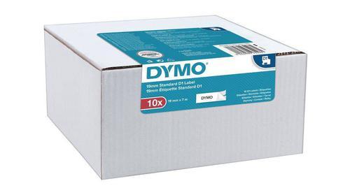 Dymo D1 Tape Cartridge 19mm x 7m Black on White S0720830