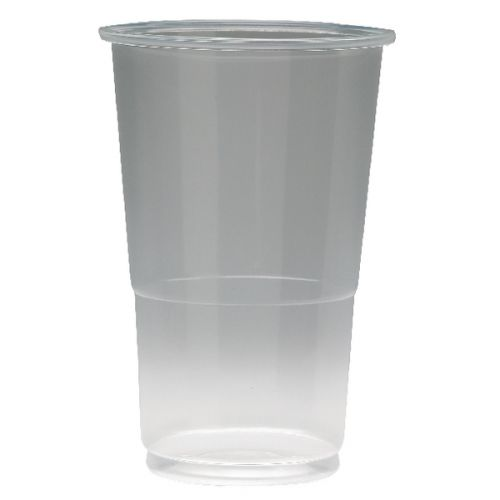 ValueX Flexiglass 1/2 Pint Clear Plastic Glass (Pack 50)