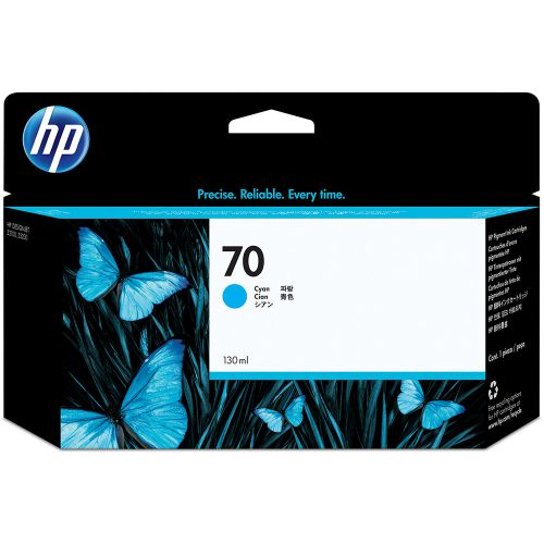 HP 70 Cyan Standard Capacity Ink Cartridge 130ml - C9452A