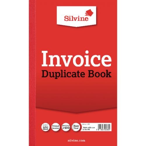 Silvine Duplicate Book Ruled 8x5in PK6