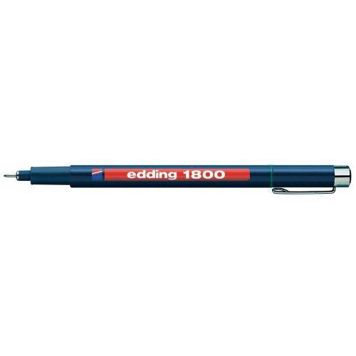 Edding 1800 Profipen Fineliner Pen 0.50mm Line Black (Pack 10)