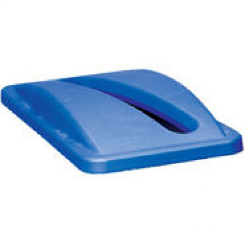 Rubbermaid Slim Jim Blue Lid for Paper Recycling System 518x290x70mm FG2703-88-BLU