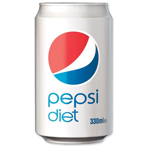 Pepsi Diet 330ml Cans (Pack 24)