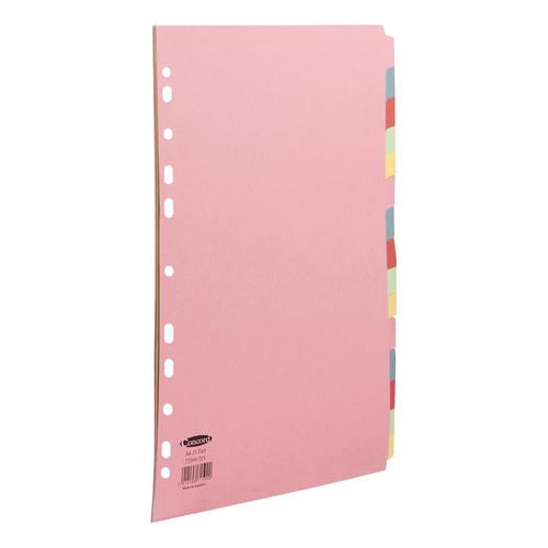 Concord Divider 15 Part A4 160gsm Board Pastel Assorted Colours